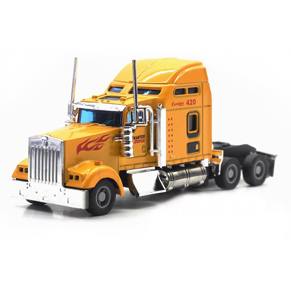 1:42 American Alloy Trailer Head Heavy Truck Model Car With Sound & Light Simulation Transport Model Toys For Kids Birthday Gift