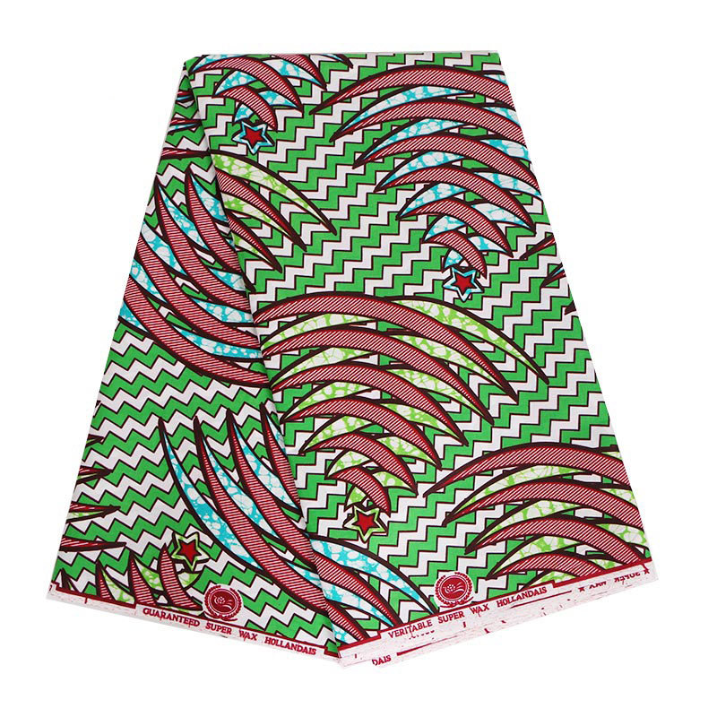 2019 African Cotton Fabric Fashionable Kwanzaa Wax Holland Wax Print Pagne Wax