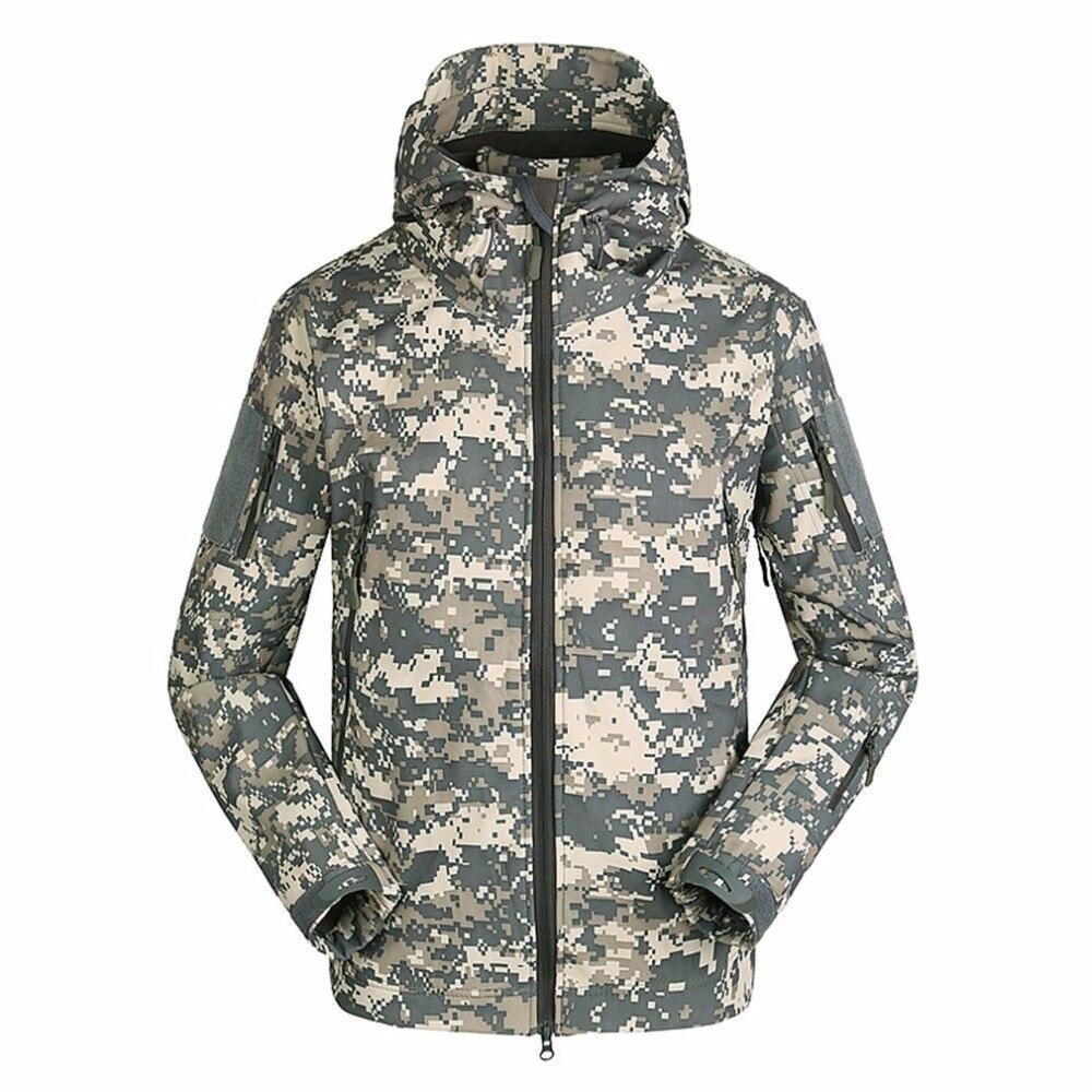 Military Tactical Men Jacket Shark Skin Soft Shell Waterproof Windproof Windbreaker Jacket Wear Resisting Keep Warm Coat Male