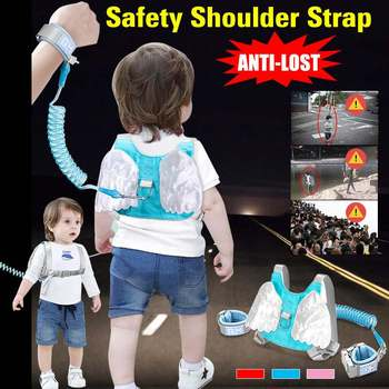 1.5-2.5m Adjustable Kids Safety Harness Children Leash Anti-lost Wrist Link Wrist Strap Traction Rope Band Baby Walker Wristband