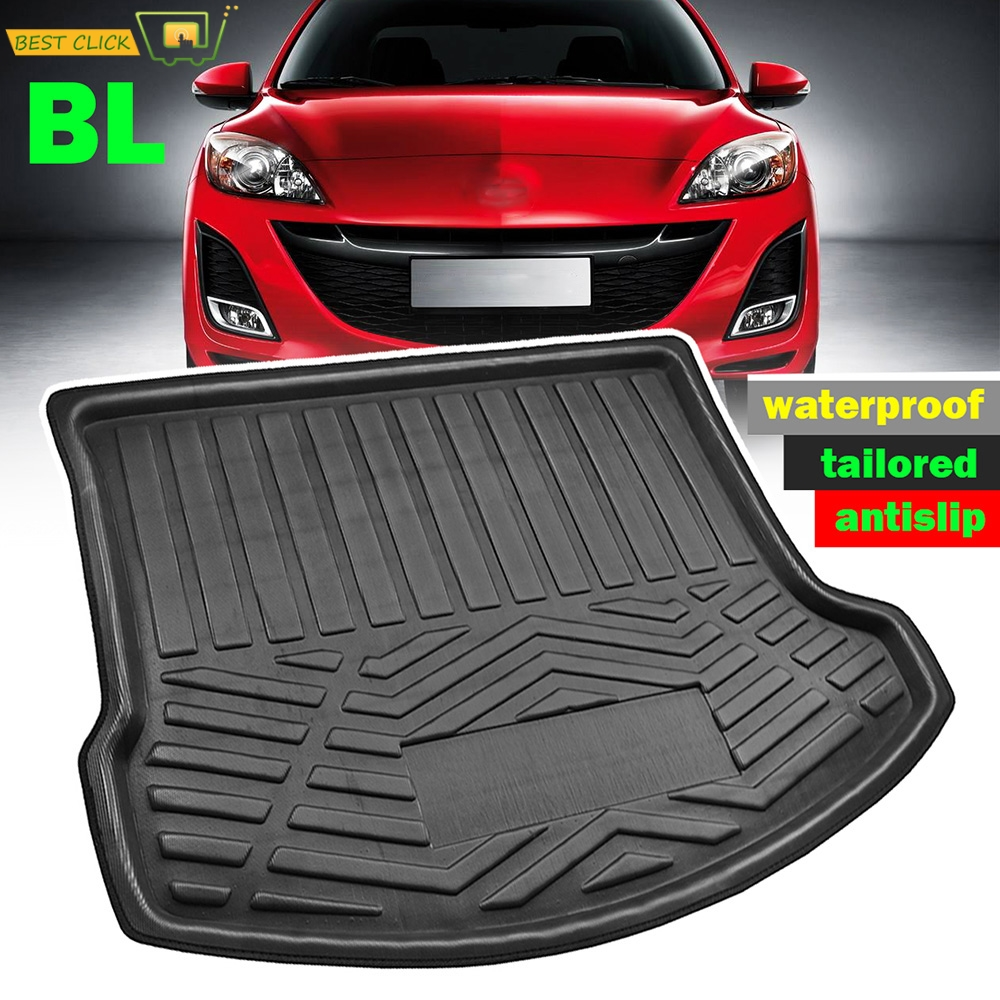 For Mazda 3 BL 4 door Sedan Saloon 2009 2010 2011 2012 2013 Cargo Boot Liner Tray Rear Trunk Floor Mat Carpet Car Styling