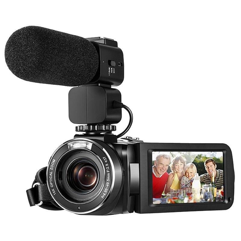 Ordro Z82 cámara de vídeo videocámara Full HD 10X Zoom óptico de la Cámara Filmadora para YouTube de Vlogging Vivicine T12 inteligente 3D casa teatro Proyector de Video 1920x1080 píxeles 100% offset Auto enfoque con Zoom 1080P Full Proyector HD Beamer