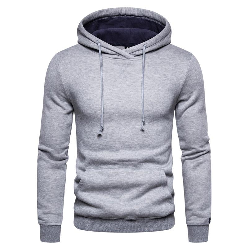 2020 New Sporting Hoodies Men Fleece Hoodies Pure Color Sweatshirts Velvet Fabrics Spring Casual Solid Hoodies For Men Women