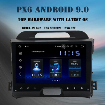 Android 9.0 Multimedia player GPS Navi For KIA Sportage R 2011 2012 2013 2014 2015 PX6 DSP HDMI 2 din navigation 4GB+64GB WIFI