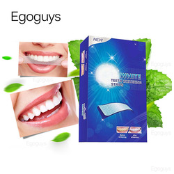 14PCS/Pack D Teeth Whitening Strips Mint Flavor Teeth Shade Bleaching Oral Care Remove Tooth Stain Dental Whiten White Tips Kit