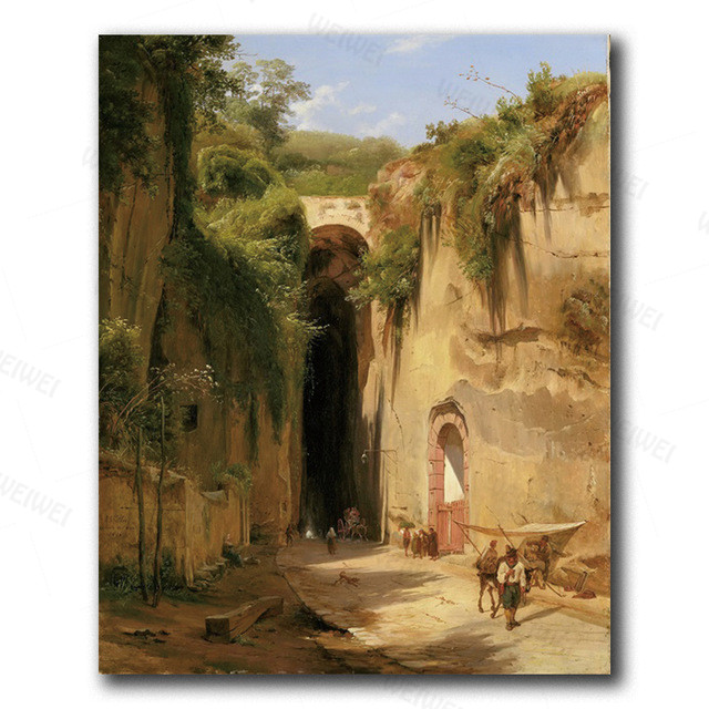 Canvas Wall Art Old Temple By Hubert Robert Painting Classic Art Reproductions  19