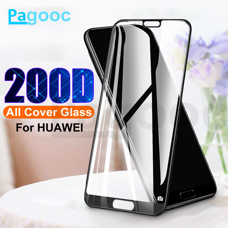 200D Protective Glass On For Huawei P20 P30 Lite P30 P20 Pro P Smart Tempered Screen Protector Glass Mate 20 30 Lite Film Case