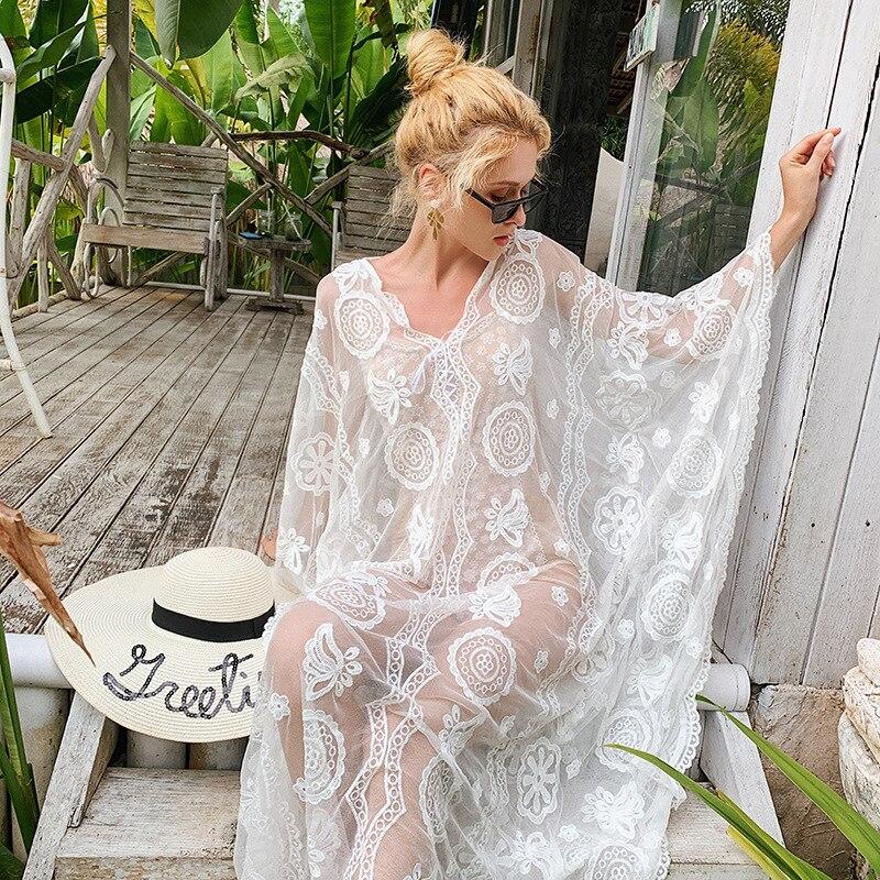 Thailand Popular Brand New Style Blouse Gauze Transparent Long Skirts Sun-resistant Long Sleeve Beach Skirt Air Conditioner Cove