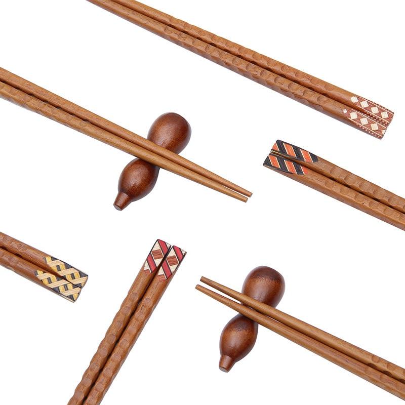 Купить 3 пары корейских японских палочек для еды из твердой древесины
