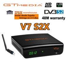 Dvb gtmedia v7 s2x DVB-S2 receptor de satélite com usb wifi gtmedia v7s2x digital receptor atualização freesat v7s hd nenhum aplicativo