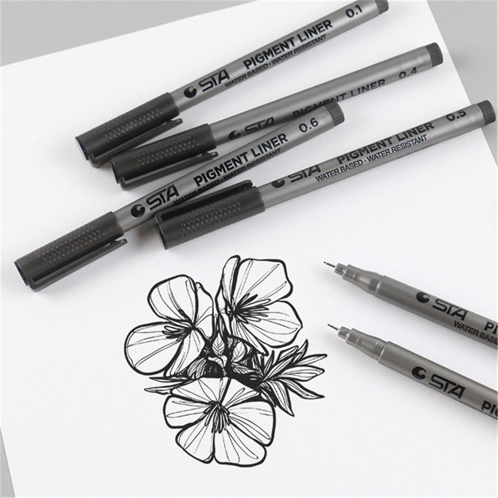 9 шт/лот 005 мм 08 пористые точечные ручки кисть для письма