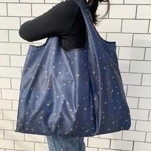 Shoulder-Handbag Tote-Bags Grocery Folding Eco-Friendly Travel Reusable Fashion BIG