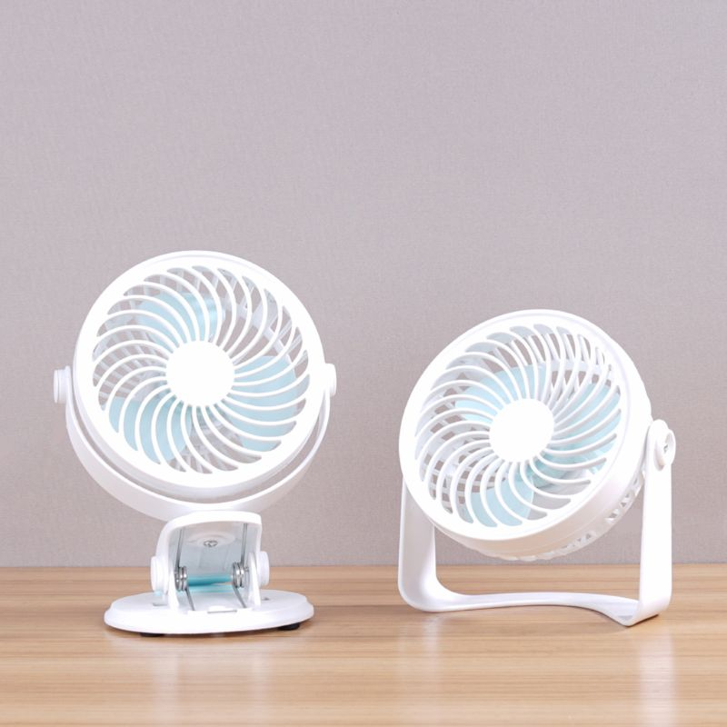 USB Clip Desk Table Fan With Strong Wind Quiet 2 Speed Adjustable 360 Degree Rotatable Mini Personal Fan For Home Office