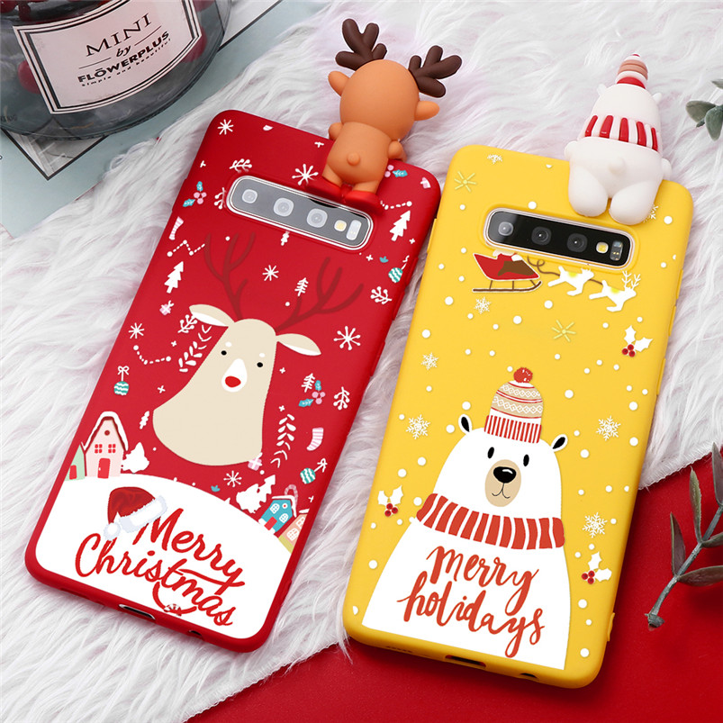 Christmas <font><b>Case</b></font> For Samsung Galaxy A10 A20 A30 A40 <font><b>A50</b></font> A50S A60 A70 M10 M20 S6 S7 Edge S10E S8 S9 S10 Plus Silicone <font><b>Cartoon</b></font> Cover image