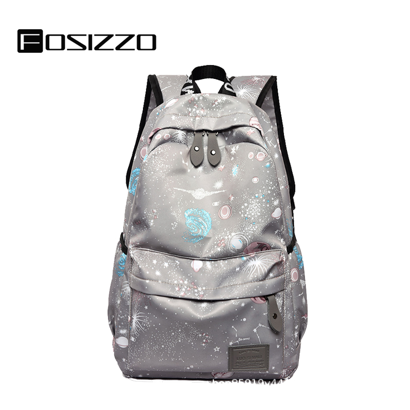 FOSIZZO School Bags Teenager Schoolbag Fashion School Backpacks Travel Bag Black Bagpack Mochila FS4037