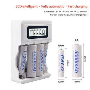 Image 2 - PALO LCD ekran akıllı USB şarj aleti AA şarj edilebilir pil şarj için 1.2V AA / AAA ni cd Ni MH şarj edilebilir piller