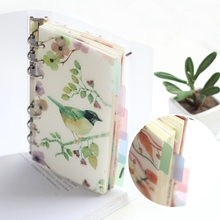 5Pcs Floral Category Page Planner Index Page Notebook Translucent 6 Hole Binder