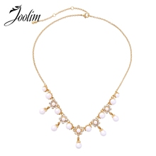 JOOLIM Elegant Pearl Collar Necklace Design Jewelry Wholesale joolim high quality long simulated pearl tassel maxi necklace multi layered necklace statement jewelry wholesale