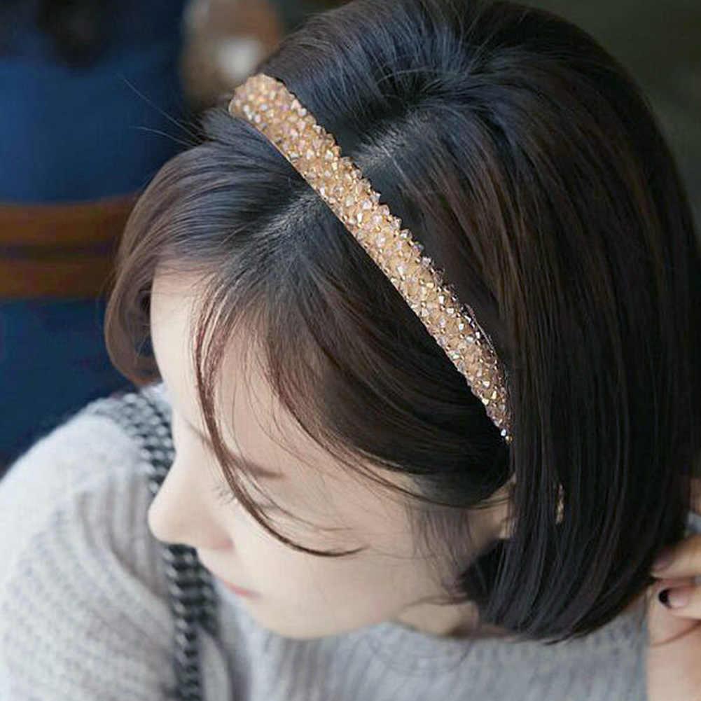 Shinny Pha Lê Hairbands Tóc Đính Hạt Vòng Tóc Kim Cương Cung Tên Tóc Cho Nữ Kim Cương Giả Mũ Trùm Đầu Mũ Phụ Kiện Tóc
