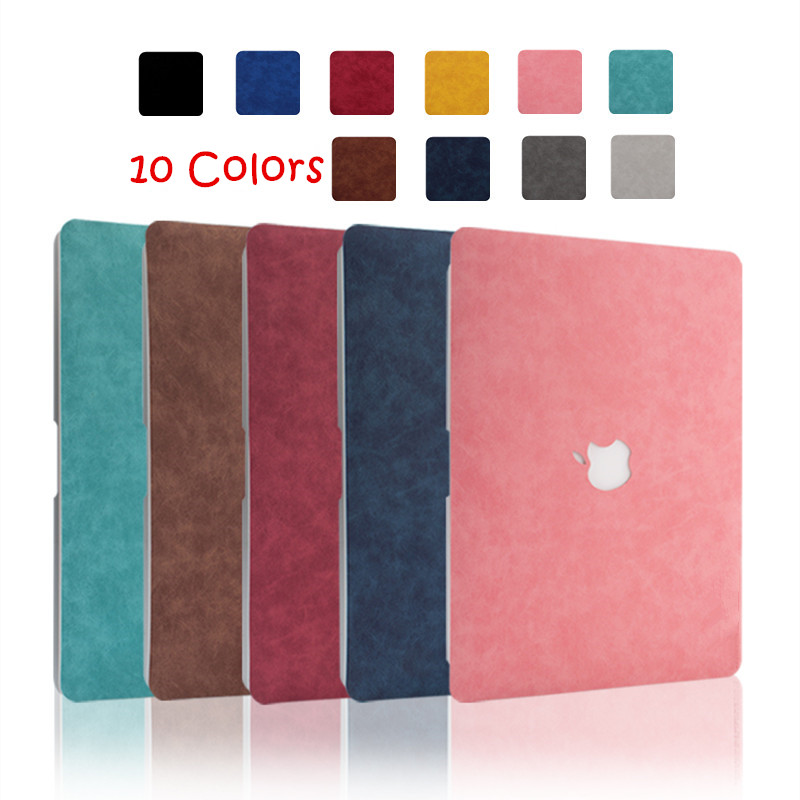 PU Leather Shell Skin Cover Case for Apple MacBook Pro and Air 11.6 12 13 13.3 15 16 inch Laptop 2019 2020 New A1932 A1706 A2141(China)