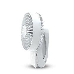 4000Mah przenośne chłodzenie Mini wentylator Usb 4 prędkości 360 stopni wszechstronny obrót akumulator wentylator powietrza Usb ładowarka biurkowa przypinany wentylator