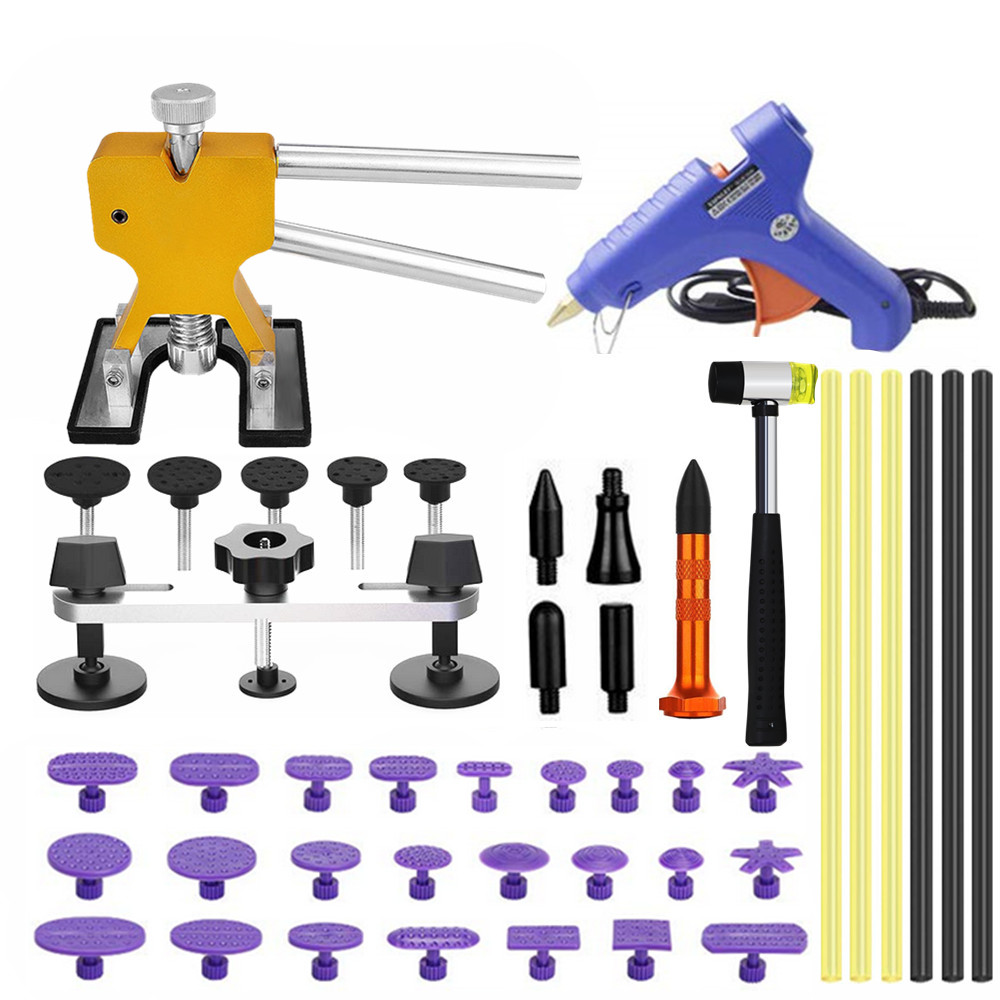 Pdr Dent Repair Tools Dent Removal Tool Kit Bridge Puller Set For Car Hail Damage And Door Dings Repair