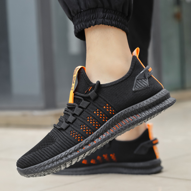 New Zapatillas Hombre Mesh Men Sneakers Casual Shoes Lac-up Men Shoes Lightweight Comfortable Breathable Rubber Walking Sneakers
