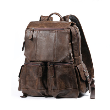 Weysfor Men Backpack Leather School Backpack Bag PU Backpack  Bags Neutral Portable Waterproof Travel Bag Male Leather Book Bag weysfor vogue pu backpack men women male school backpack mochilas school leather business bag large laptop shopping travel bags