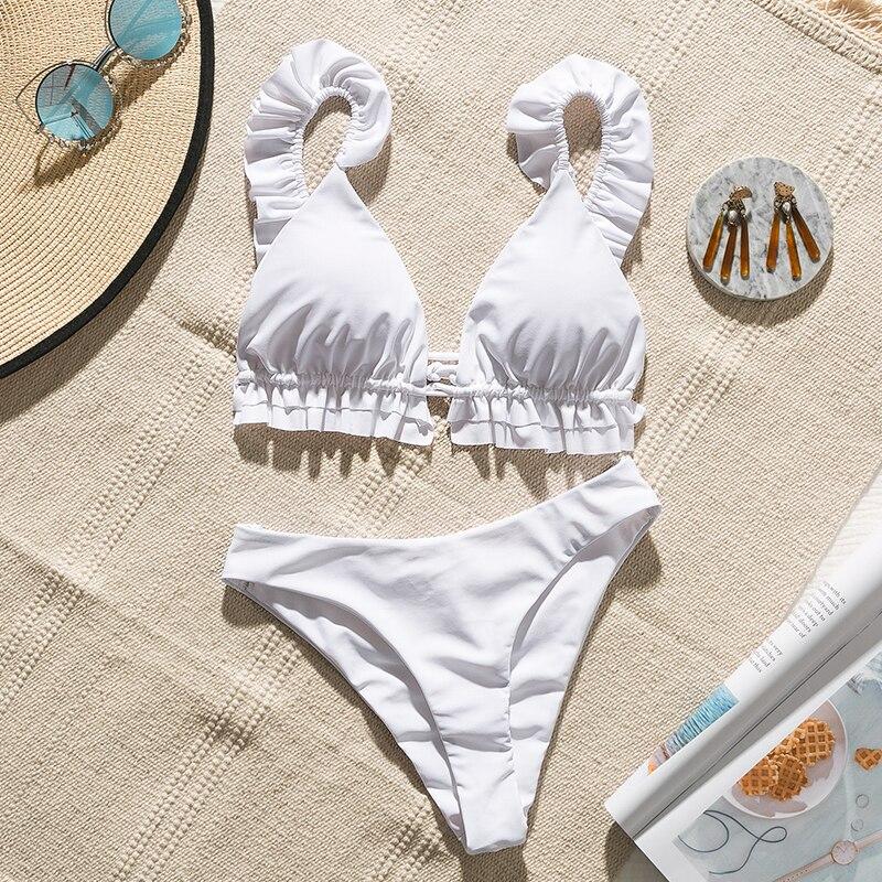 Hcfb21b3a314c43d5b8e3f1e5c57fb44cJ Peachtan Sexy bikini 2019 Mujer swimwear Women biquinis Feminino bathers Ruffles bathing suit Push up swimsuit Female beach wear