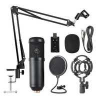 Kit de micrófono de suspensión profesional BM800, conjunto de micrófono condensador de grabación de radiodifusión en vivo para Karaoke KTV