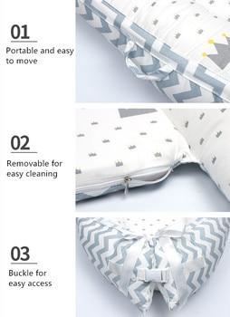 80*50cm Baby Nest Bed Portable Crib Travel Bed Infant Toddler Cotton Cradle For Newborn Baby Bassinet Bumper 1