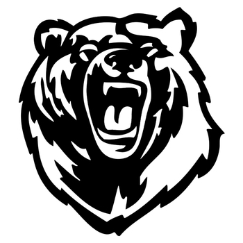 CS-1575# Growling bear reflective funny car sticker vinyl decal silver/black for auto car stickers styling no background image