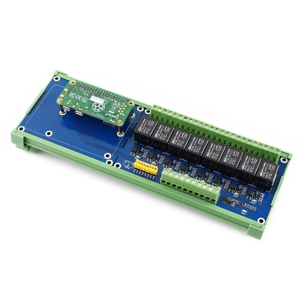 WaveshareRaspberry Pi Expansion Board, 8-ch Relay Channel,for  Raspberry  Pi A+/B+/2B/3B/3B+,Onboard LED,Contact Form:SPDT-NO,NC