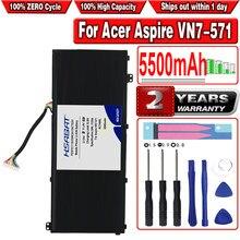 HSABAT 5500mAh AC14A8L de batería para Acer Aspire VN7-571 VN7-571G VN7-591 VN7-591G VN7-791G MS2391 KT.0030G 001