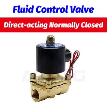 1 1/4 ″ 1 1/2 2″ 2 дюйма большой поток электромагнитный клапан 12 в 24 В 220 В нормально закрытый DN35 DN40 DN50 для воды, масла, воздуха