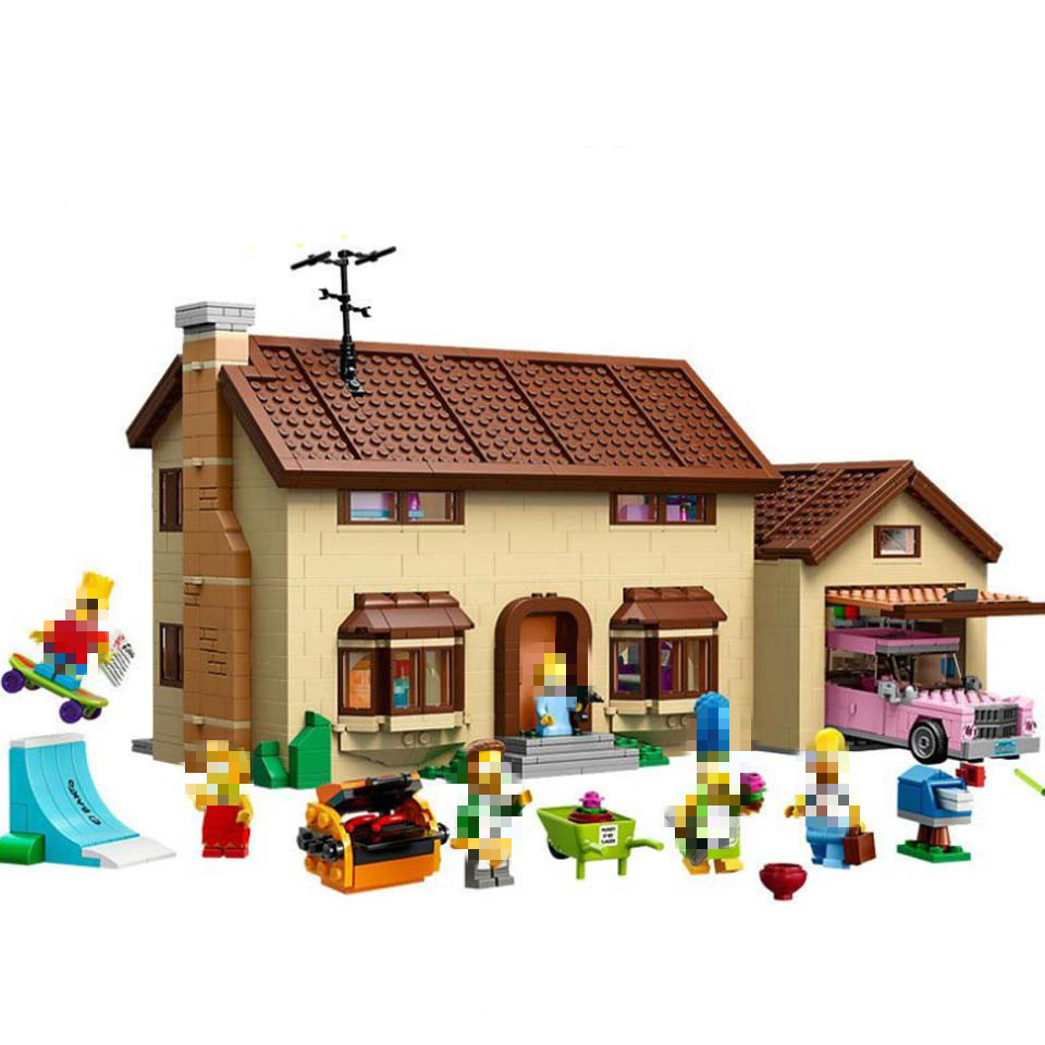 2575Pcs Movie Toys 16005 Simpsons House Building Block Brick Compatible Lepinblock 71006 Model Toys For Children Birthday Gift