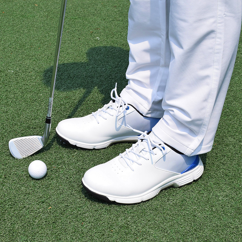 Men Professional Golf Shoes Waterproof Spikes Golf Sneakers Black White Mens Golf Trainers Big Size Golf Shoes for Men 6