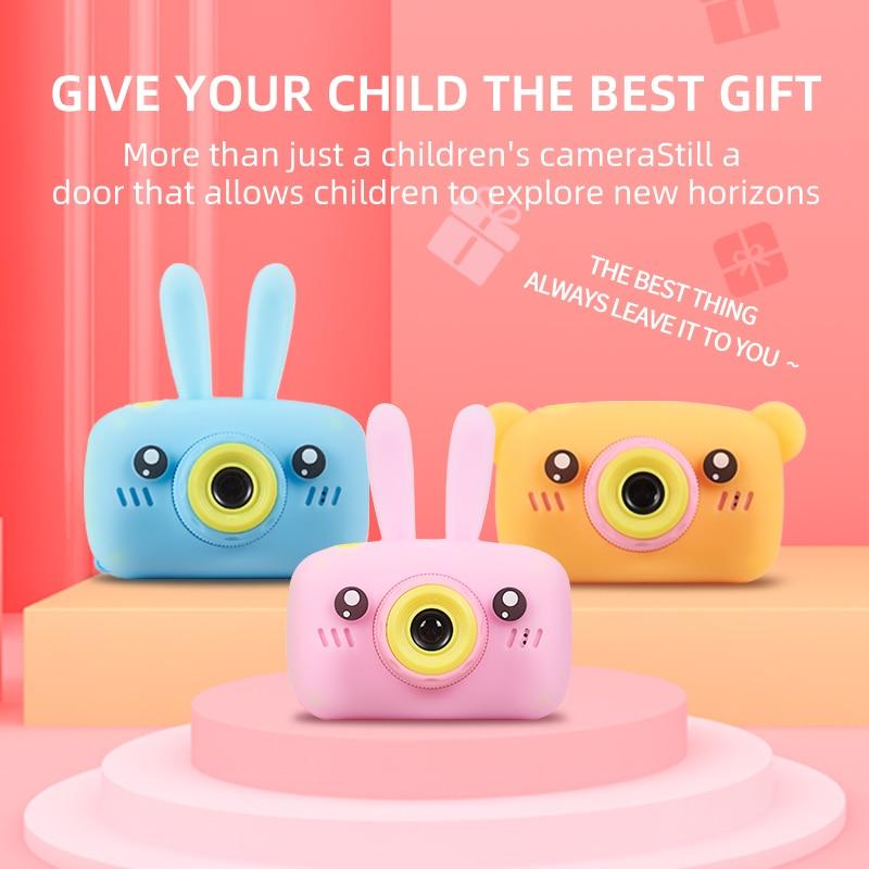 Камера для детей, Противоударная и передняя и задняя селфи камера 12,0 м с 2,0 дюймовым ips экраном, детские развивающие игрушки