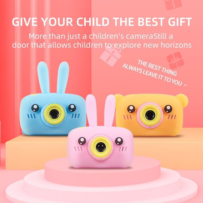 Caméra pour enfants, antichoc et avant et arrière Selfie caméra 12.0M avec 2.0 pouces IPS écran enfants jouets éducatifs