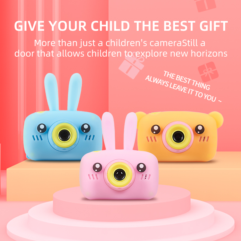 Camera For Kids,Shockproof And Front And Rear Selfie Camera 12.0M With 2.0 Inch IPS Screen Children Educational Toys