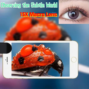 Image 5 - 4K HD Super 15X Macro Lens for Smartphone Anti Distortion 0.45X 0.6X Wide Angle Lens 2 in 1 Mobile Phone Lense Camera Kit