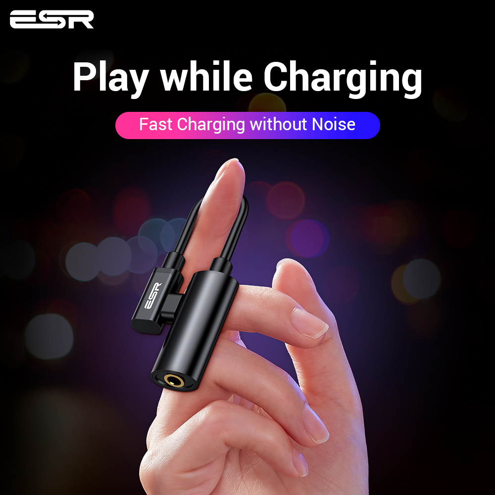 ESR USB C To Jack 3.5 Type C Cable Adapter For Huawei P20 Pro Xiaomi Mi 6 8 9 Se Note USB Type-C 3.5mm AUX Earphone Converter