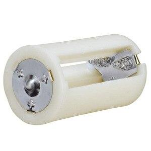 Image 4 - 4PCS 반투명 AA 크기 D 배터리 변환기 어댑터 케이스 AA 배터리 케이스 어댑터 변환기 홀더 스위처 케이스 박스 보관