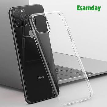 Luksusowe jasne miękkie etui tpu dla iPhone 11 Pro Max 7 8 6 6s Plus 7Plus 8Plus X XS MAX XR przezroczyste na telefon etui na 5 5S SE 6splus tanie i dobre opinie Esamday Aneks Skrzynki Ultrathin Clear Transparent TPU Silicone Soft Simple Luxury case Apple iphone ów Iphone 5 Iphone5c