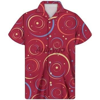 цена Red Man Cuban Shirt Soft Comfortable Hawaiian Shirt For Male 2020 New Classic Printing Streetwear Men Clothes Moda Masculina онлайн в 2017 году