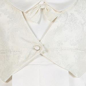 Image 4 - Zwinny Boys Baby chrzciny suknie Satin formalna okazja chłopcy Romper noworodków ubrania Ivory dzieci chrzest sukienki 0 12M
