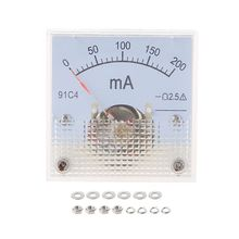 91C4 Ammeter DC Analog Current Meter Panel Mechanical Pointer Type 1/2/3/5/10/20/30/50/100/200/300/500mA A G8TB