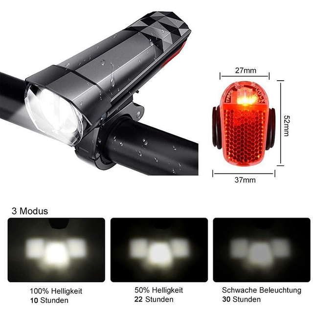 Bicycle Cycling Light Usb Charging Mtb Road Bike Headlight Waterproof Led Front Lamp