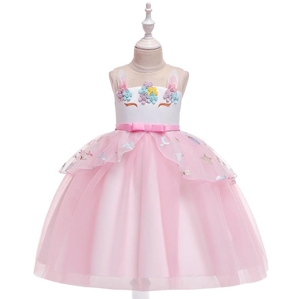 2019 Europe And America Amazon CHILDREN'S Dress Gauze Puffy Princess Girls Dress Flower Boys/Flower Girls Wedding Dress Performa