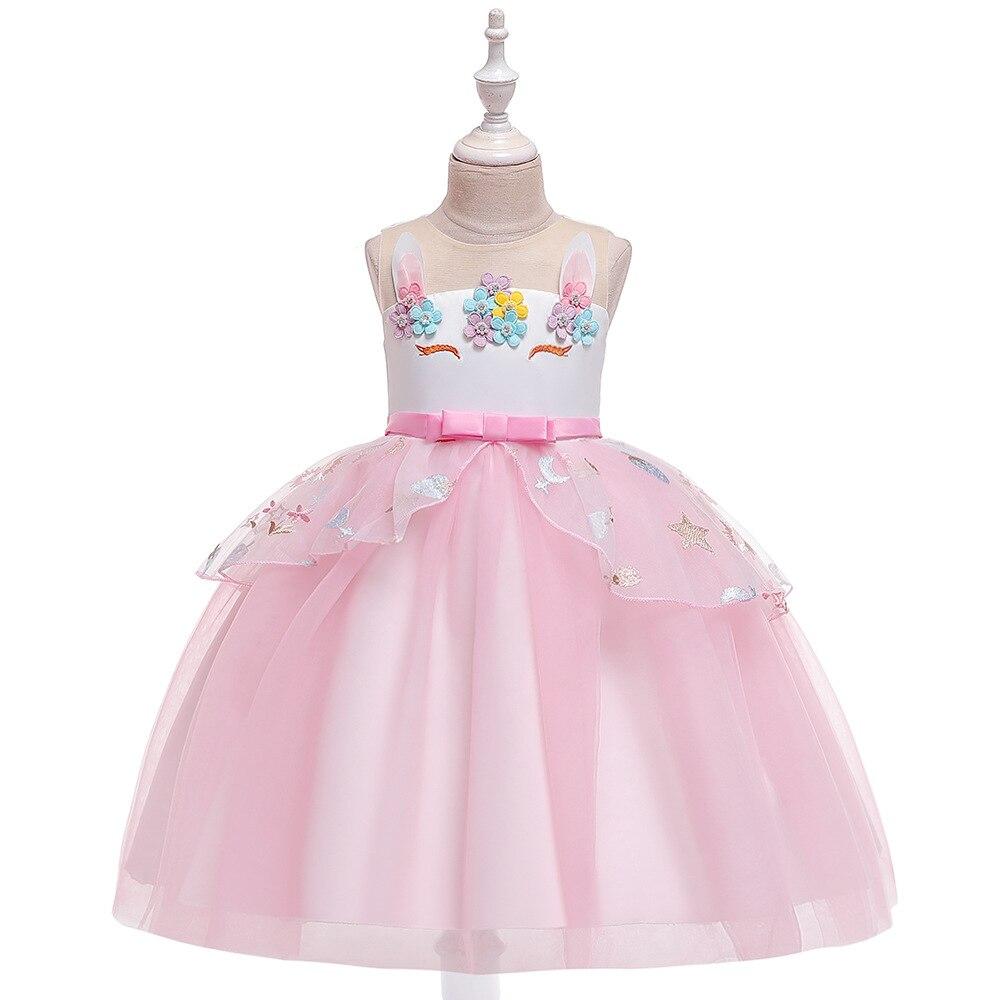 Europe And America  CHILDREN'S Dress Gauze Puffy Princess Girls Dress Flower Boys/Flower Girls Wedding Dress Performa